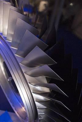 Aircraft Engine Fan Blades. Poster