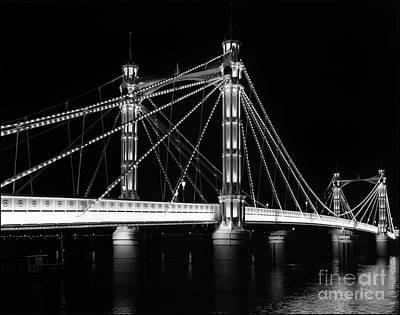 Albert Bridge At Night Poster