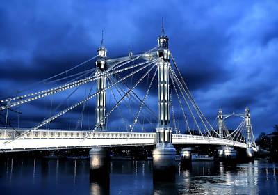 Albert Bridge London Poster by Jasna Buncic