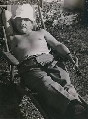 Albert Einstein 1879-1955, Sunbathing Poster by Everett