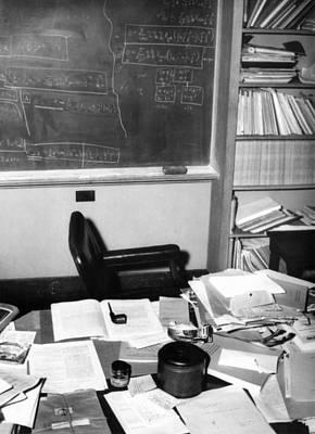 Albert Einsteins Study At The Institute Poster