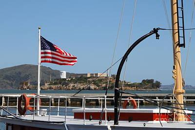 Alcatraz Island Through The Hyde Street Pier In San Francisco California . 7d14163 Poster