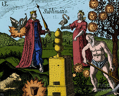 Alchemy Illustration Poster by Science Source