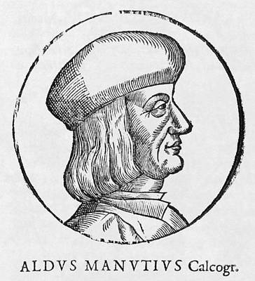 Aldus Manutius, Italian Printer Poster by Middle Temple Library