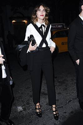 Alexa Chung Wearing A 3.1 Phillip Lim Poster