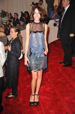 Alexa Chung Wearing A Christopher Kane Poster