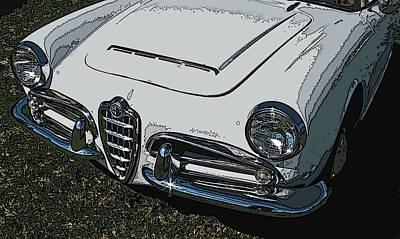 Alfa Romeo Nose Study Poster