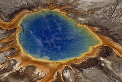 Algae-tinted Shallows Ring Yellowstones Poster by Raymond Gehman