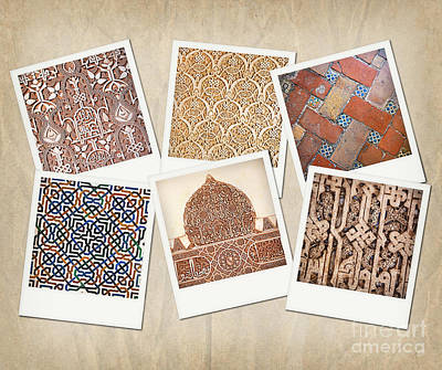 Alhambra Textures Poster