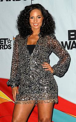 Alicia Keys In The Press Room For 2009 Poster by Everett