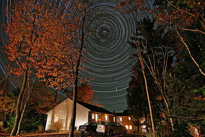 All Night Star Trails Poster by Larry Landolfi