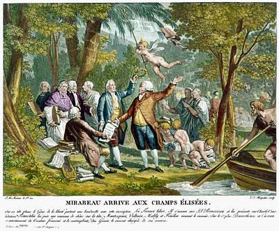 Allegorical Engraving, 1792 Poster by Granger