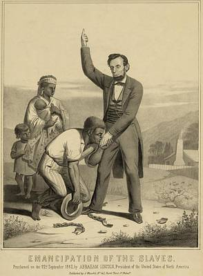 Allegorical Print Of Lincoln Poster by Everett