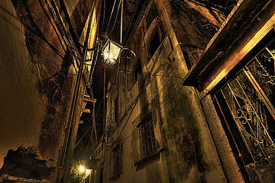 Alley In Colonial Town Poster by Claudio Giovenzana