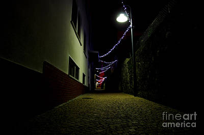 Alley With Lights Poster