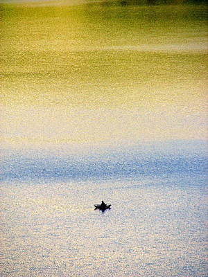 Alone On The Lake Poster