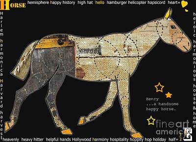 Alphabet Horse Juvenile Licensing Art Poster