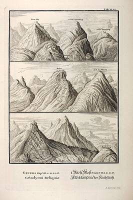 Alpine Geology Flood Evidence Scheuchzer. Poster