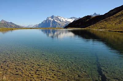 Alpine Lake Near Grindelwald, Switzerland Poster by Werner Büchel