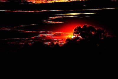 Altered Sunset Poster