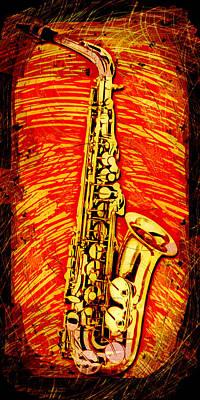 Alto Sax Abstract Poster