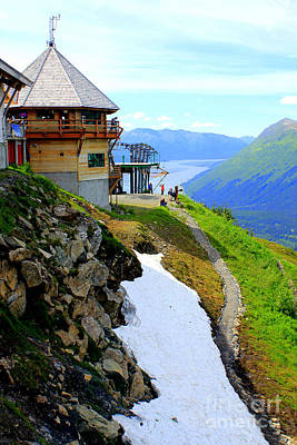 Poster featuring the photograph Alyeska Ski Resort Alaska by Kathy  White
