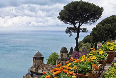 Amalfi Coast Spring Vista Poster by George Oze