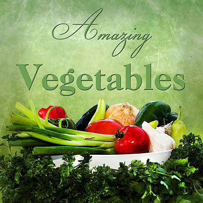 Amazing Vegetables Poster by Trudy Wilkerson
