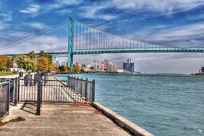 Ambassador Bridge Detroit Mi Poster