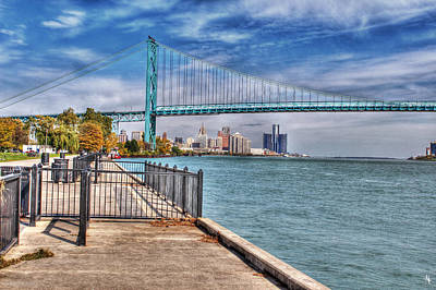 Ambassador Bridge Detroit Mi Poster by Nicholas  Grunas