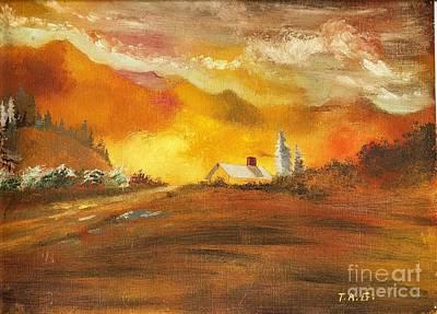 Amber Sunset Poster