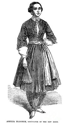 Amelia Bloomer (1818-1894) Poster by Granger