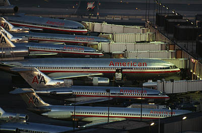American Airlines Passenger Jets Poster by Paul Chesley