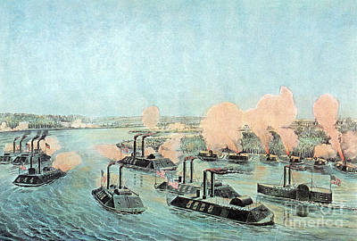 American Civil War, Battle Of Island Poster by Photo Researchers
