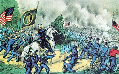 American Civil War, Battle Of Seven Poster by Photo Researchers