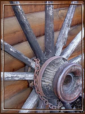 American Frontier Wagon Wheel Poster by Karon Melillo DeVega