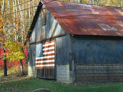 Poster featuring the photograph Americana Barn by Clara Sue Beym