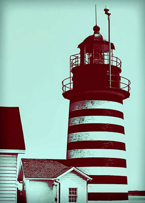 Americana Lighthouse Poster by Tony Grider