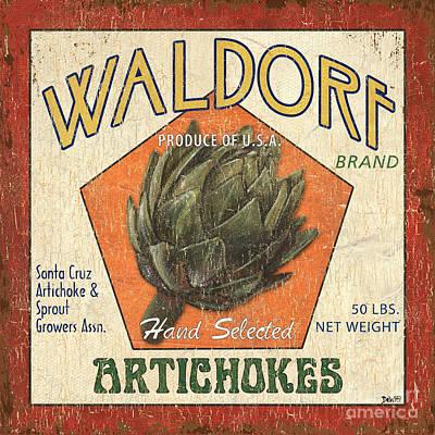 Americana Veggies Poster by Debbie DeWitt