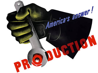 America's Answer -- Production  Poster by War Is Hell Store