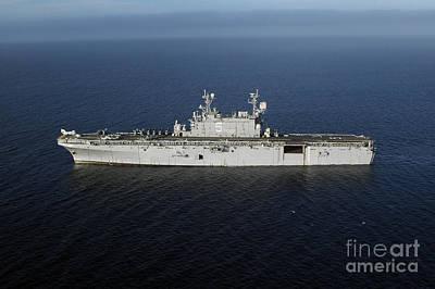 Amphibious Assault Ship Uss Peleliu Poster by Stocktrek Images