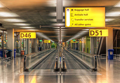 Poster featuring the photograph Amsterdam Airport by Anna Rumiantseva