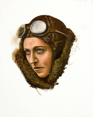 Poster featuring the painting Amy Johnson by Karen Wilson