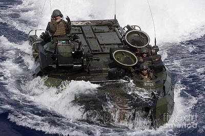 An Amphibious Assault Vehicle Poster by Stocktrek Images