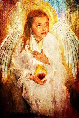 Poster featuring the photograph An Angels Heart  by Nada Meeks