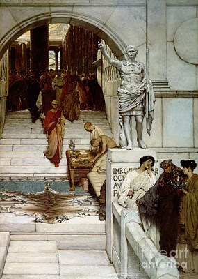 An Audience At Agrippa's Poster by Sir Lawrence Alma-Tadema