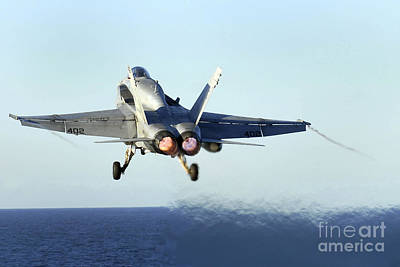 An Fa-18c Hornet Launches Poster