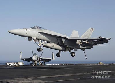 An Fa-18e Super Hornet Prepares Poster