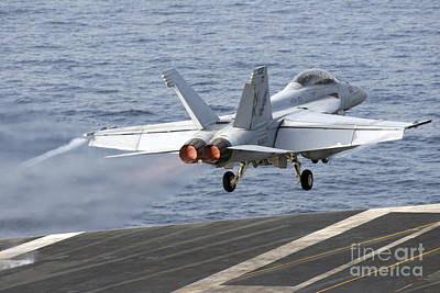 An Fa-18f Super Hornet Launches Poster by Stocktrek Images