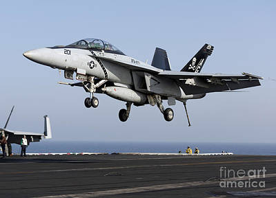 An Fa-18f Super Hornet Prepares Poster